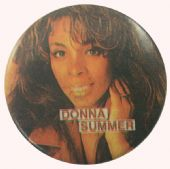 Donna Summer - 'Donna Close Up' Button Badge